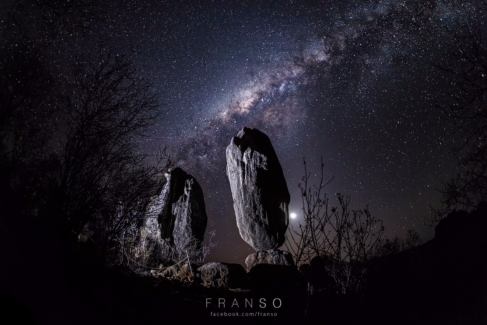 Starscape and Milkyway | Australia | The Balancing Rock  | Chillagoe National Park, QLD, Australia