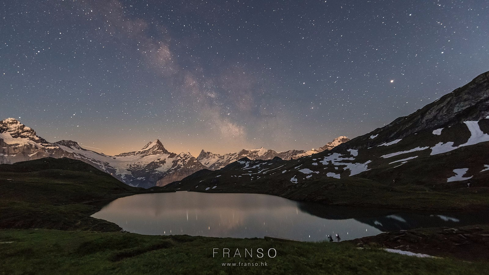 Starscape and Milkyway |  | After sunset | Bachalpsee, Berner Oberland, Switzerland