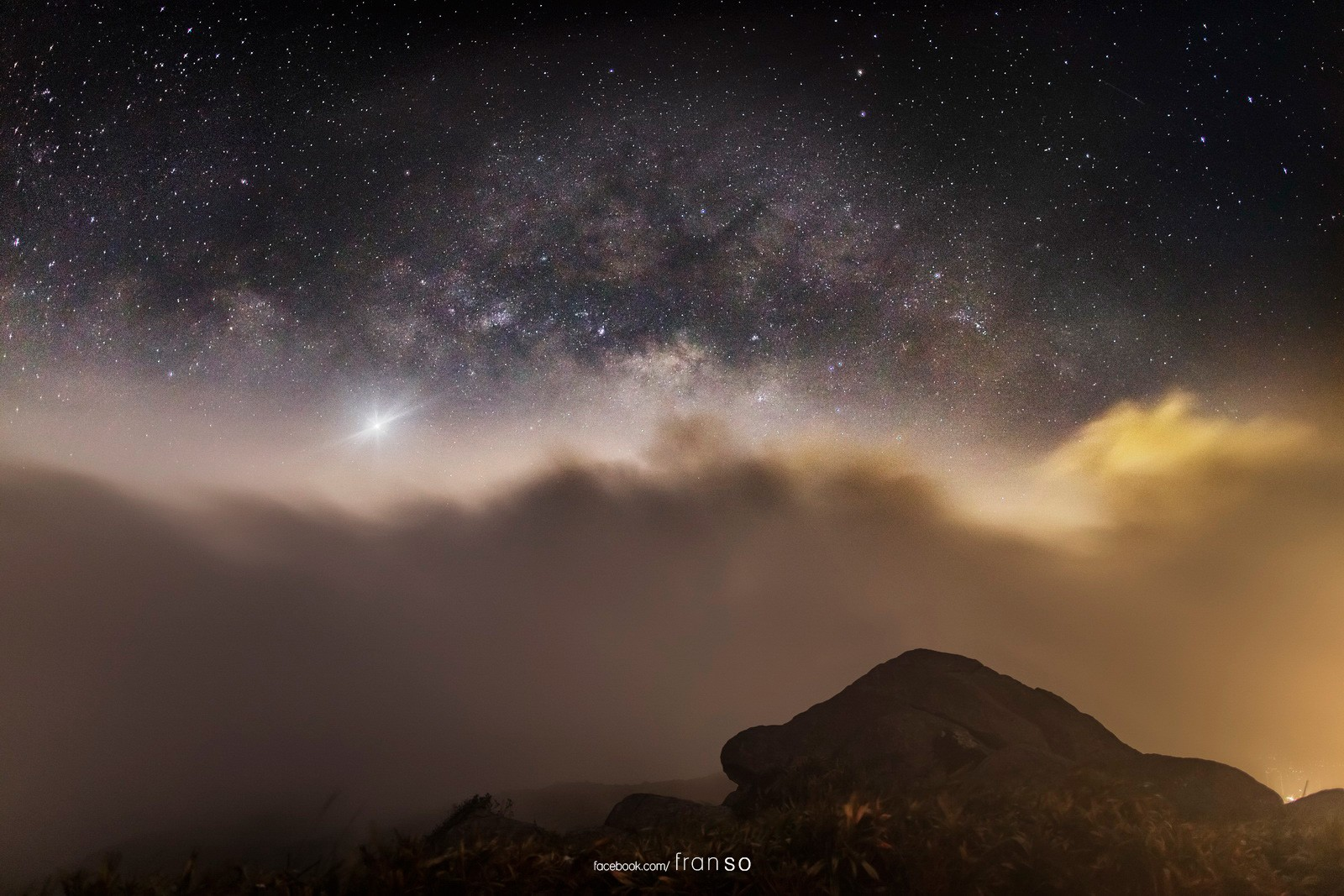 Starscape and Milkyway | Hong Kong | Tai Mo Shan  | Milkyway on the Cloud