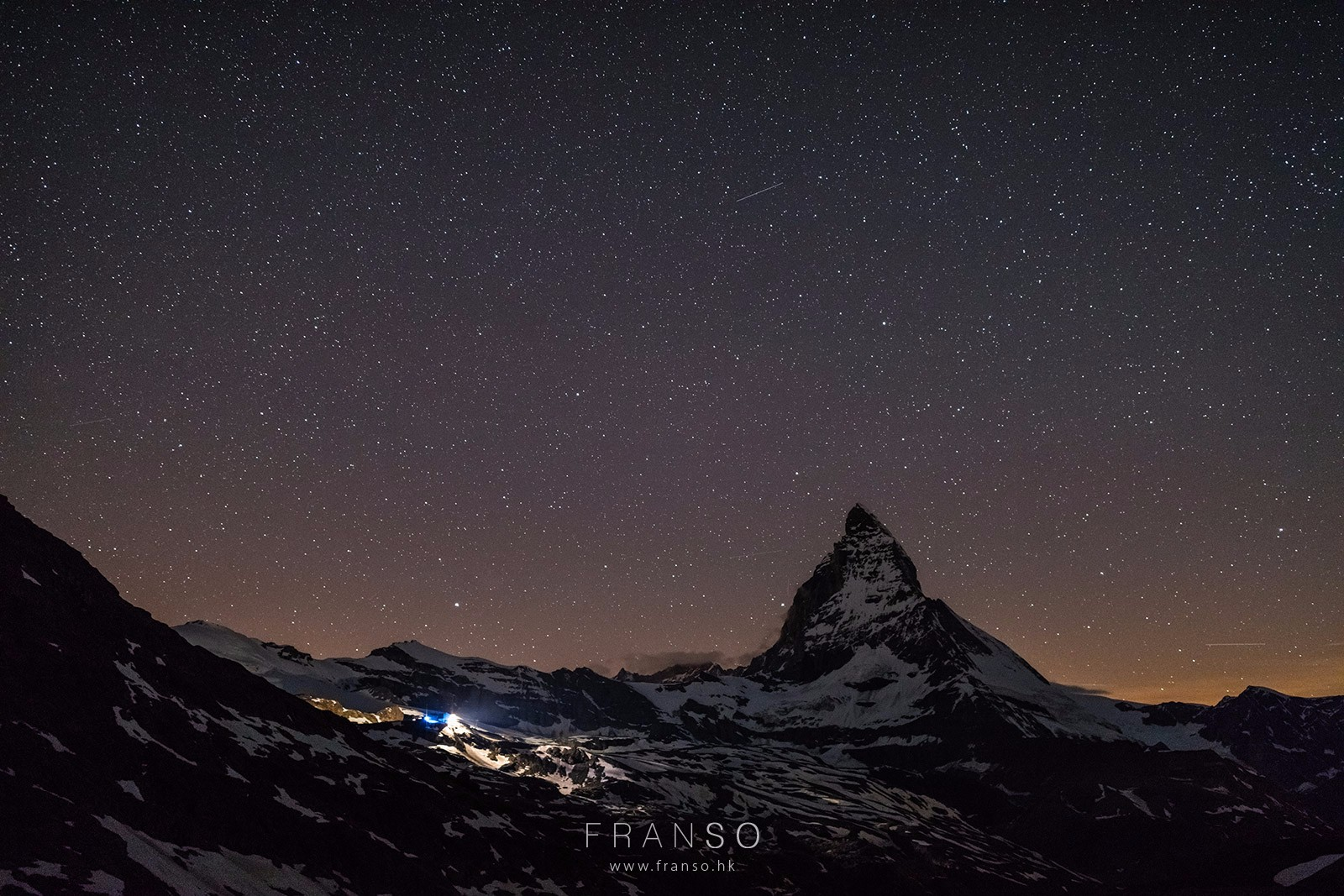 Starscape and Milkyway |  | Stars and Matterhorn | Valais, Switzerland