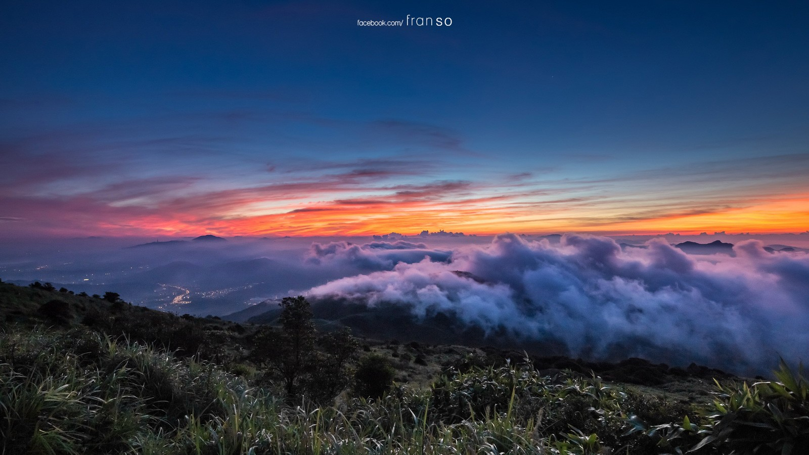 Landscape | Hong Kong | Sea of Cloud and sunrise  | Tai Mo Shan