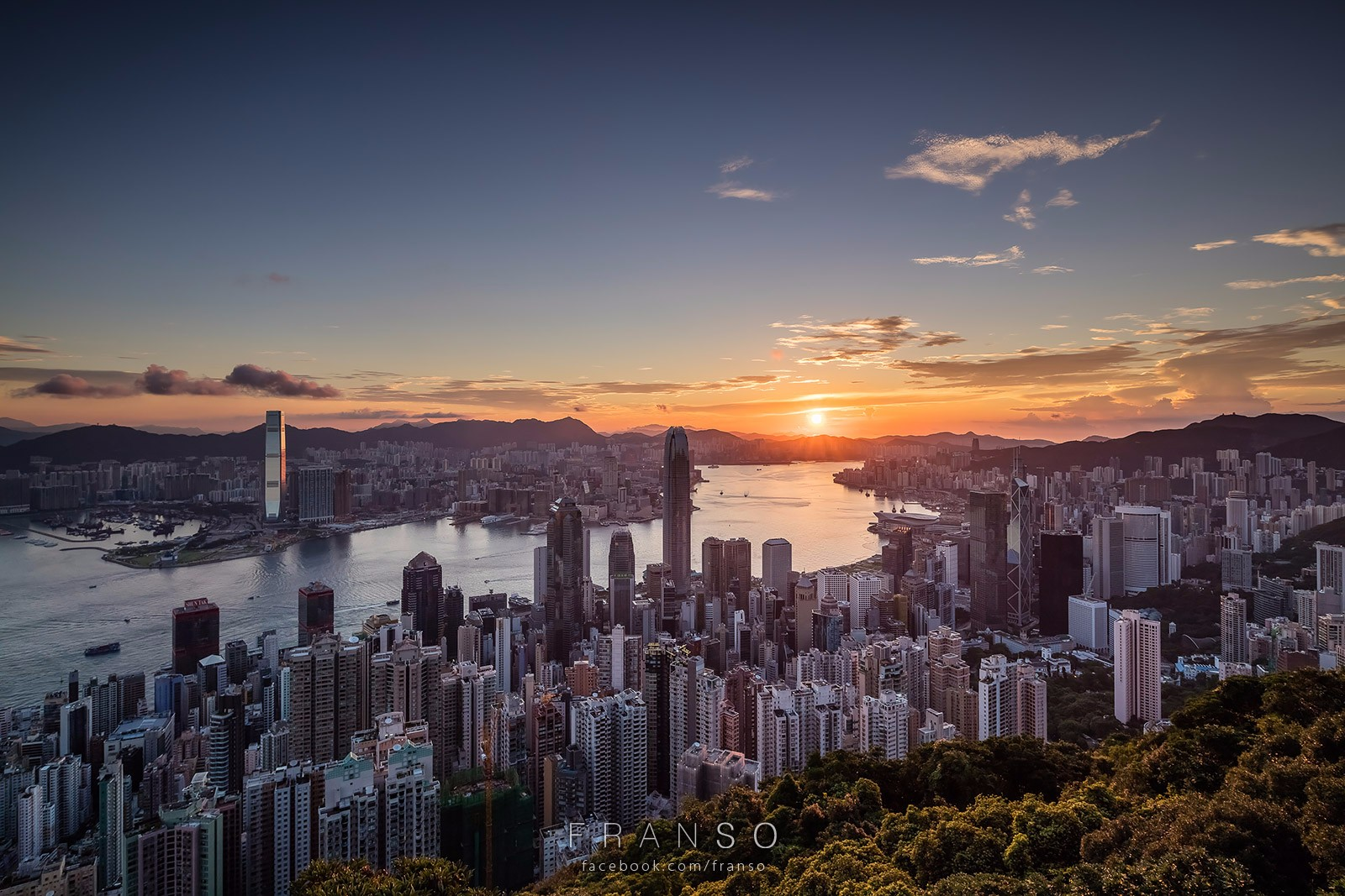 Cityscape | Hong Kong | Sunrise Hong Kong | Lugard Road, The Peak