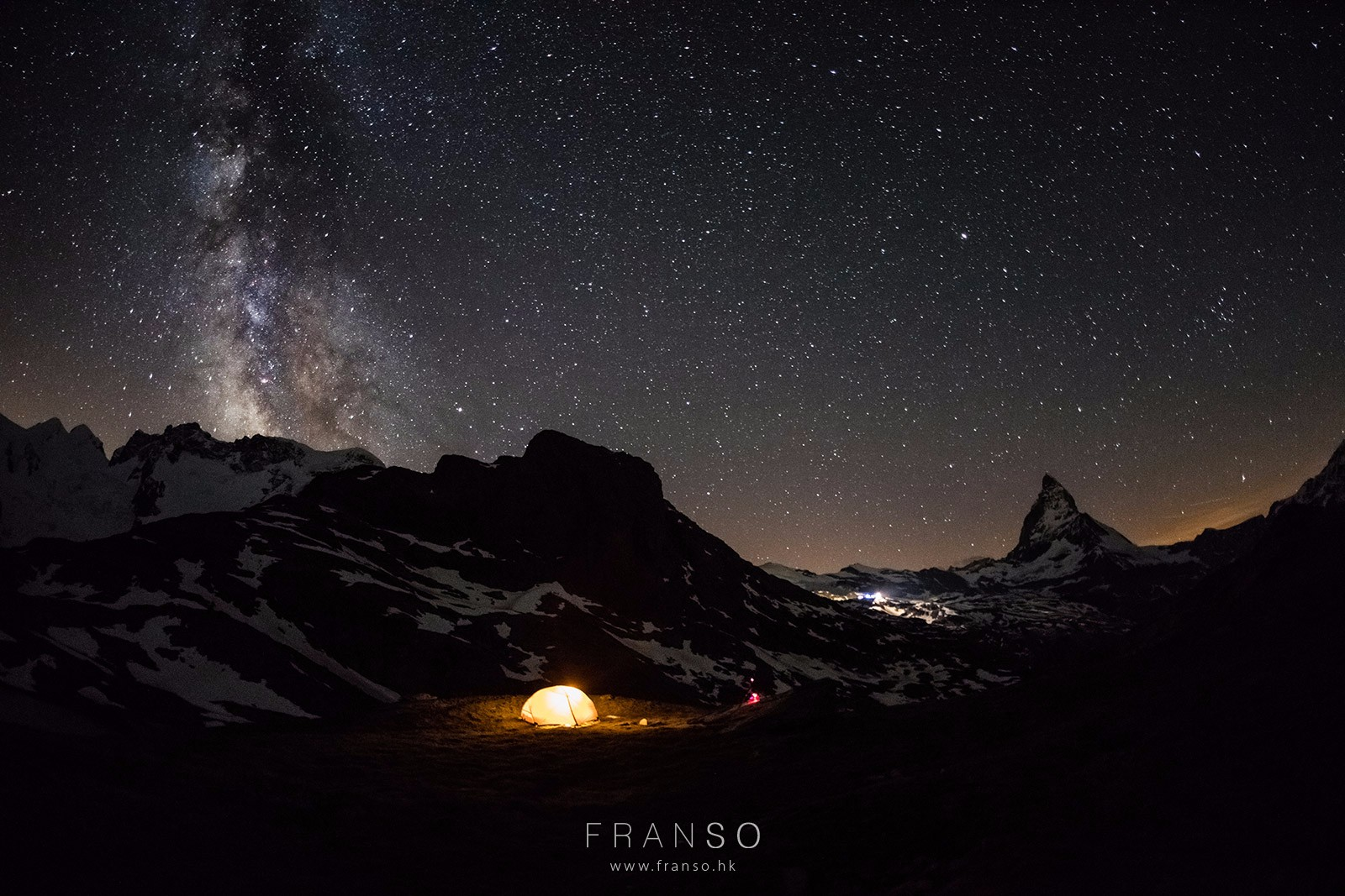 Starscape and Milkyway | Switzerland | Camping on the Alps  | Valais, Switzerland