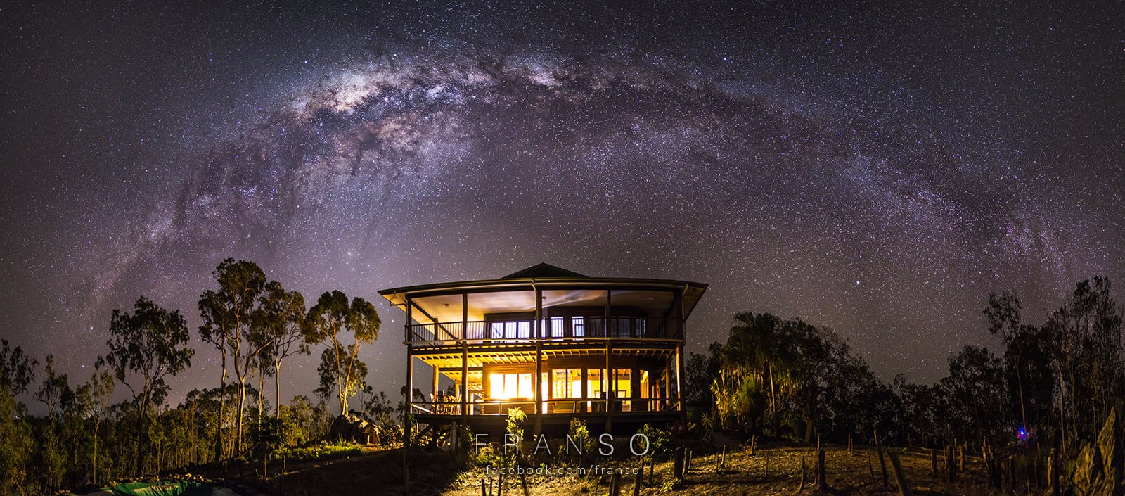 Starscape and Milkyway |  | Wooden House with Starscapes | Somewhere near Cairns
