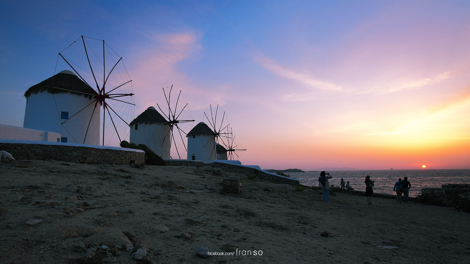 Landscape | Oversea | Mykonos Windmills  | Greece