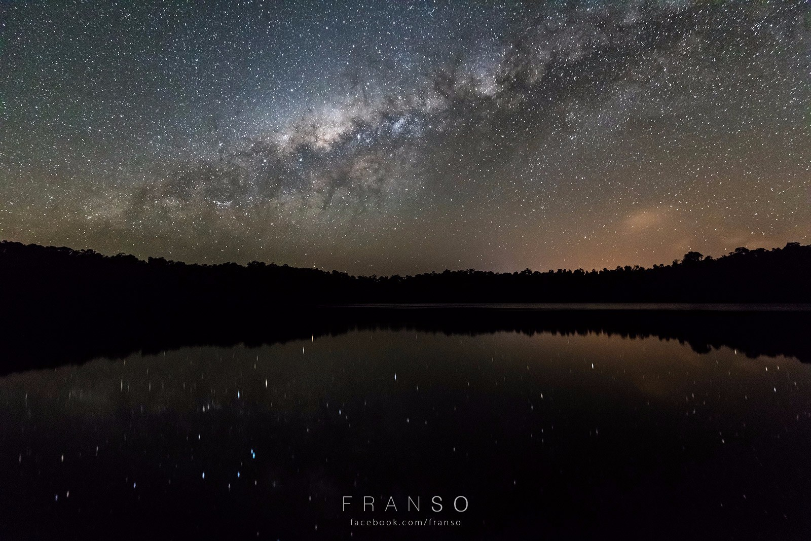 Starscape and Milkyway | Australia | Reflection and the Stars  | Lake Eacham