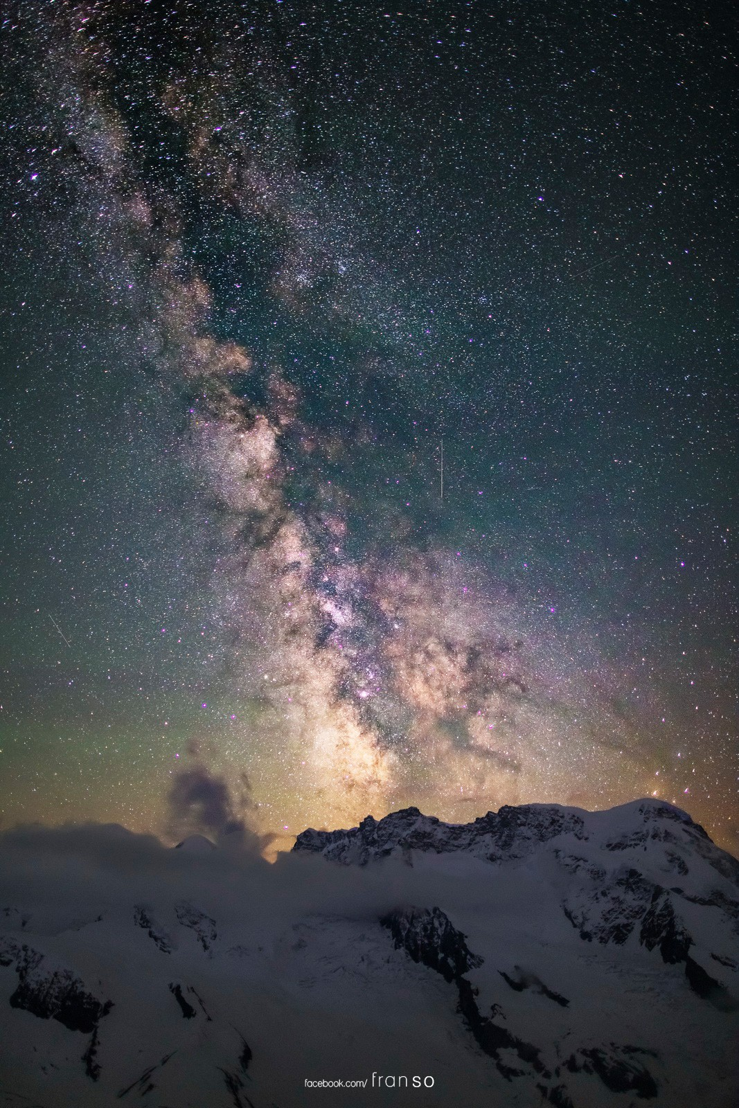 Starscape and Milkyway |  | Milkyway over Gornergrat | Taken at the room of 3100 Kulmhotel Gornergrat