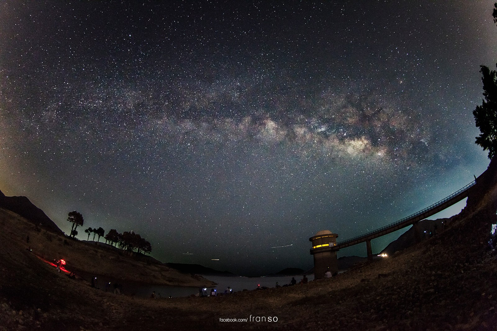 Starscape and Milkyway | Hong Kong | Fisheye Milkyway | West Dam