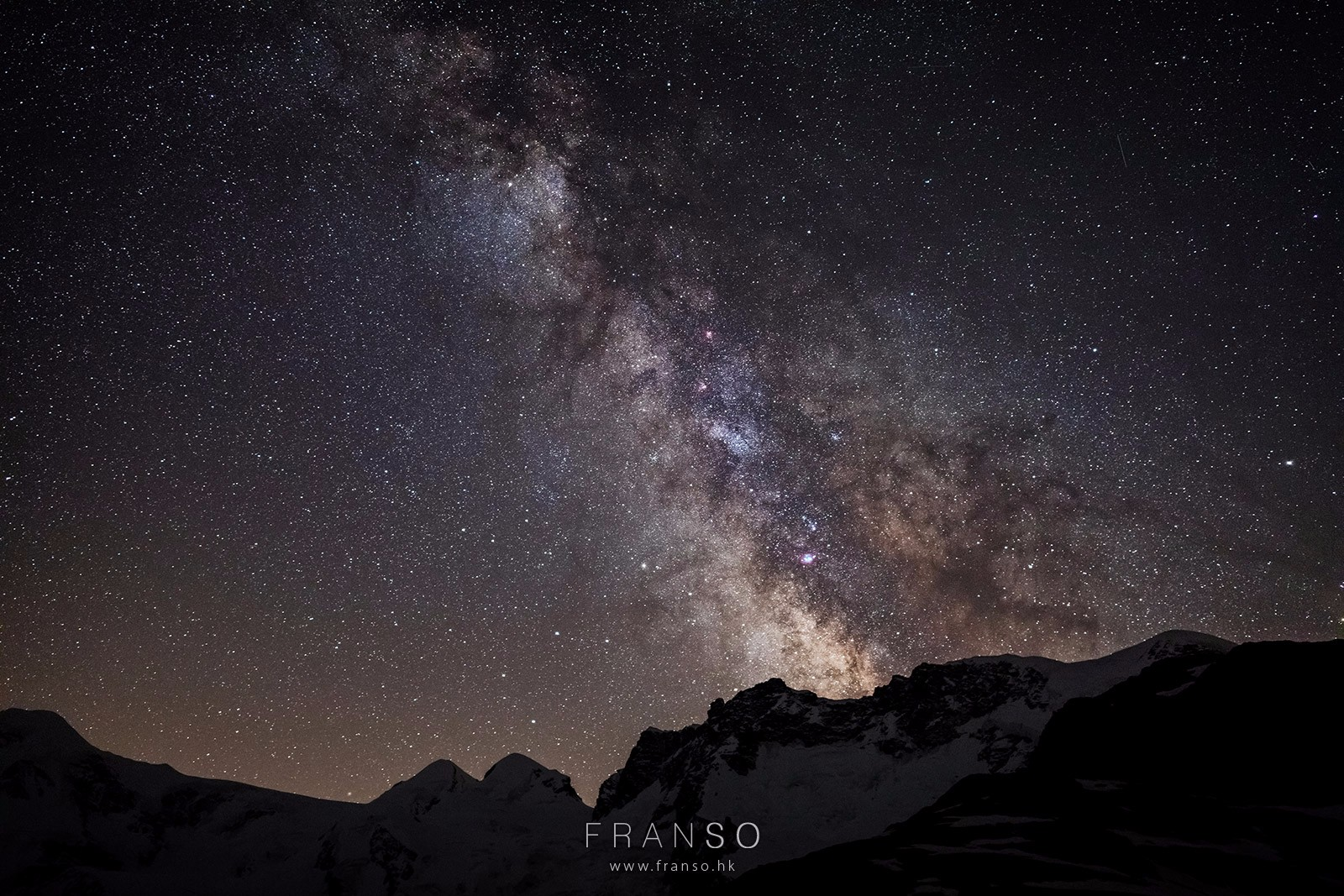 Starscape and Milkyway | Switzerland | Milkyway over the Alps  | Valais, Switzerland