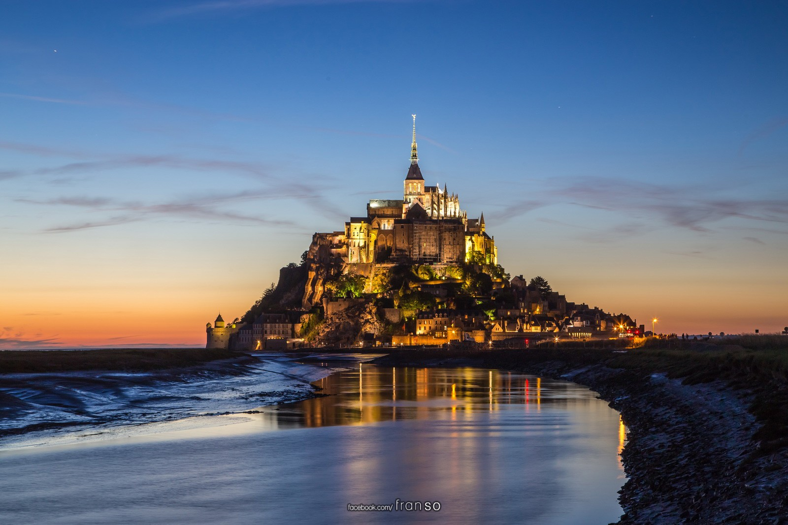 Landscape | Oversea | Mt. St. Michel  | After sunset