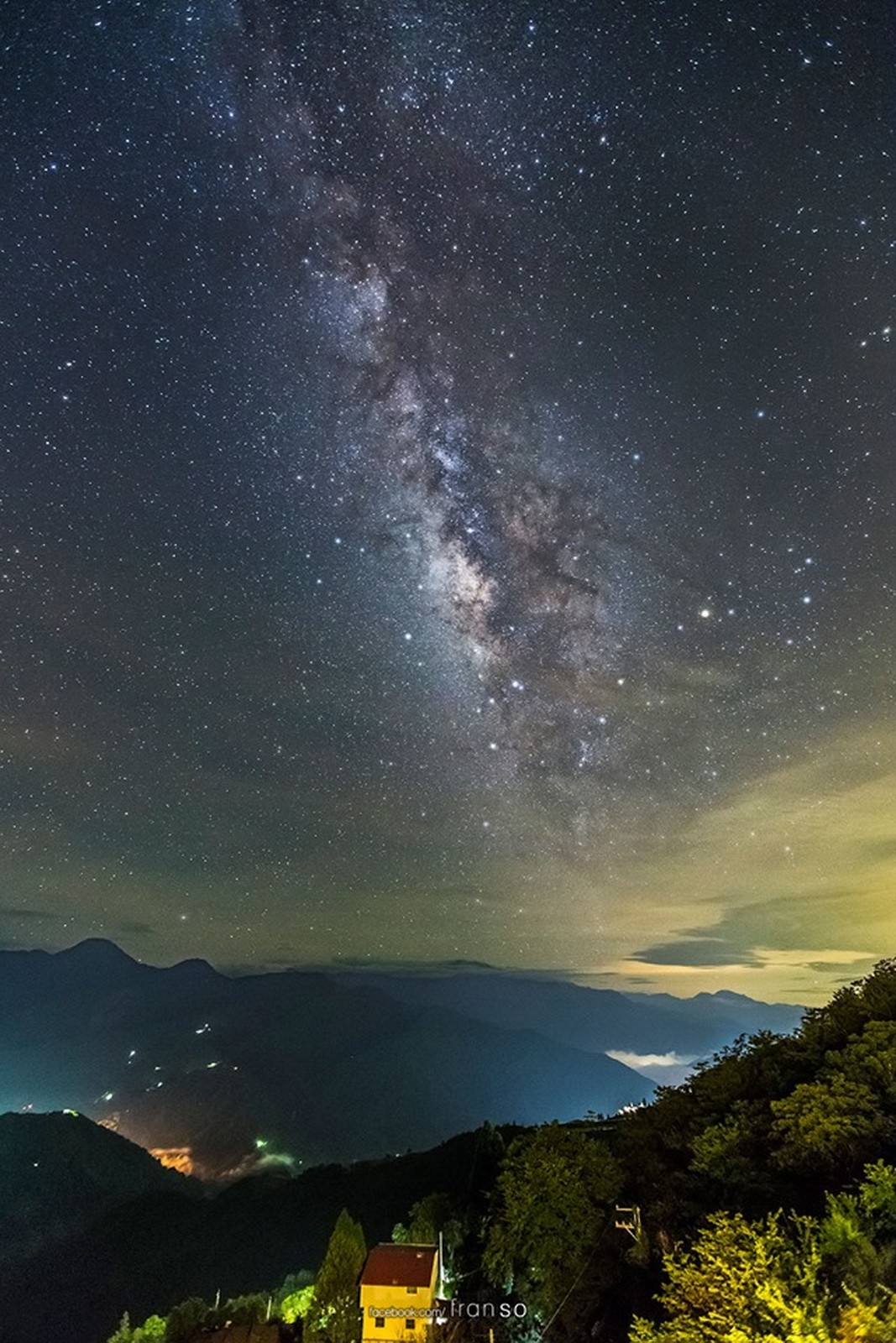 Starscape and Milkyway | Taiwan | CingJing  | taken at balcony of the hotel