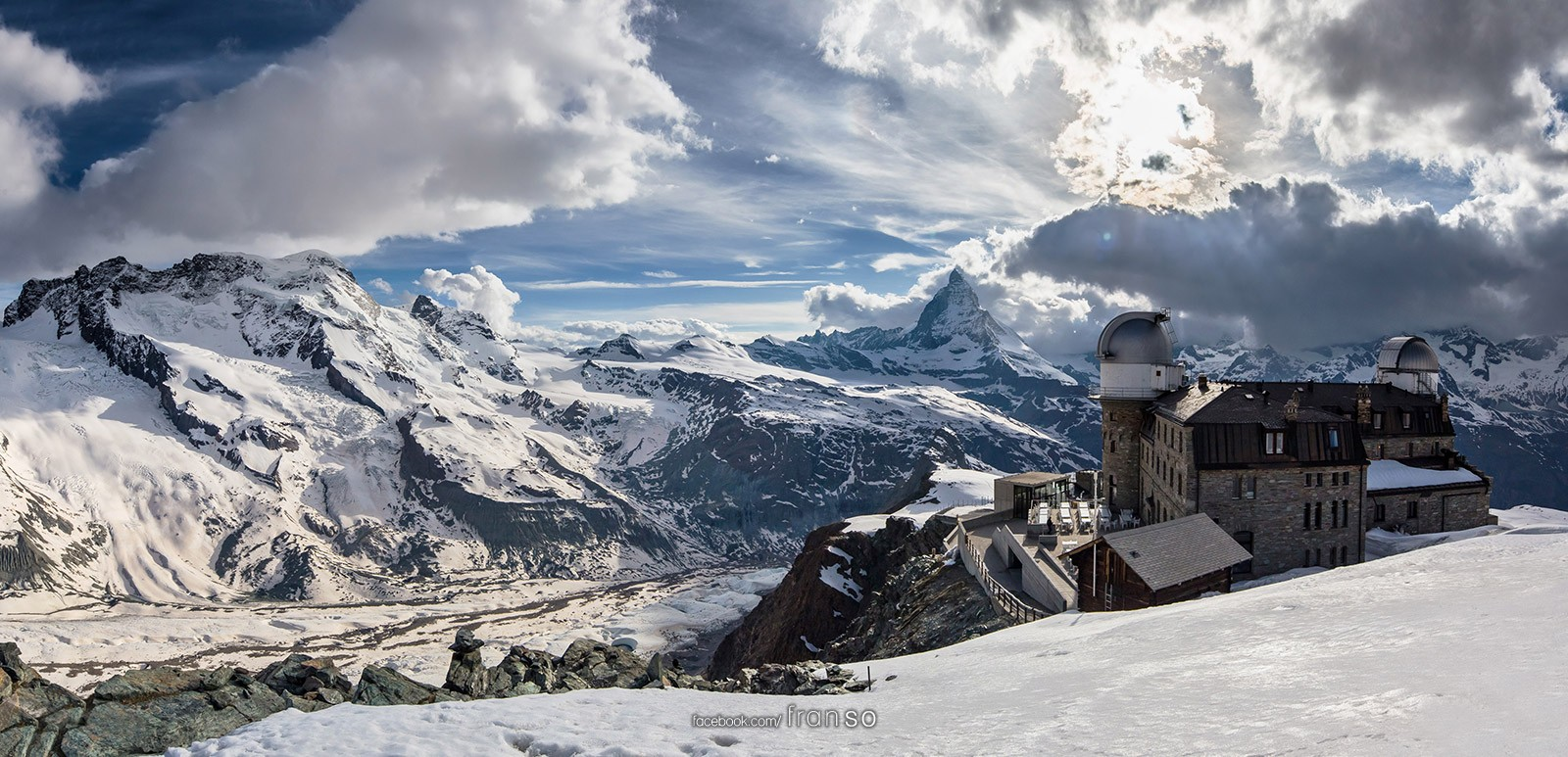 Landscape | Switzerland | Panorama of Gornergrat  | Panoramic view