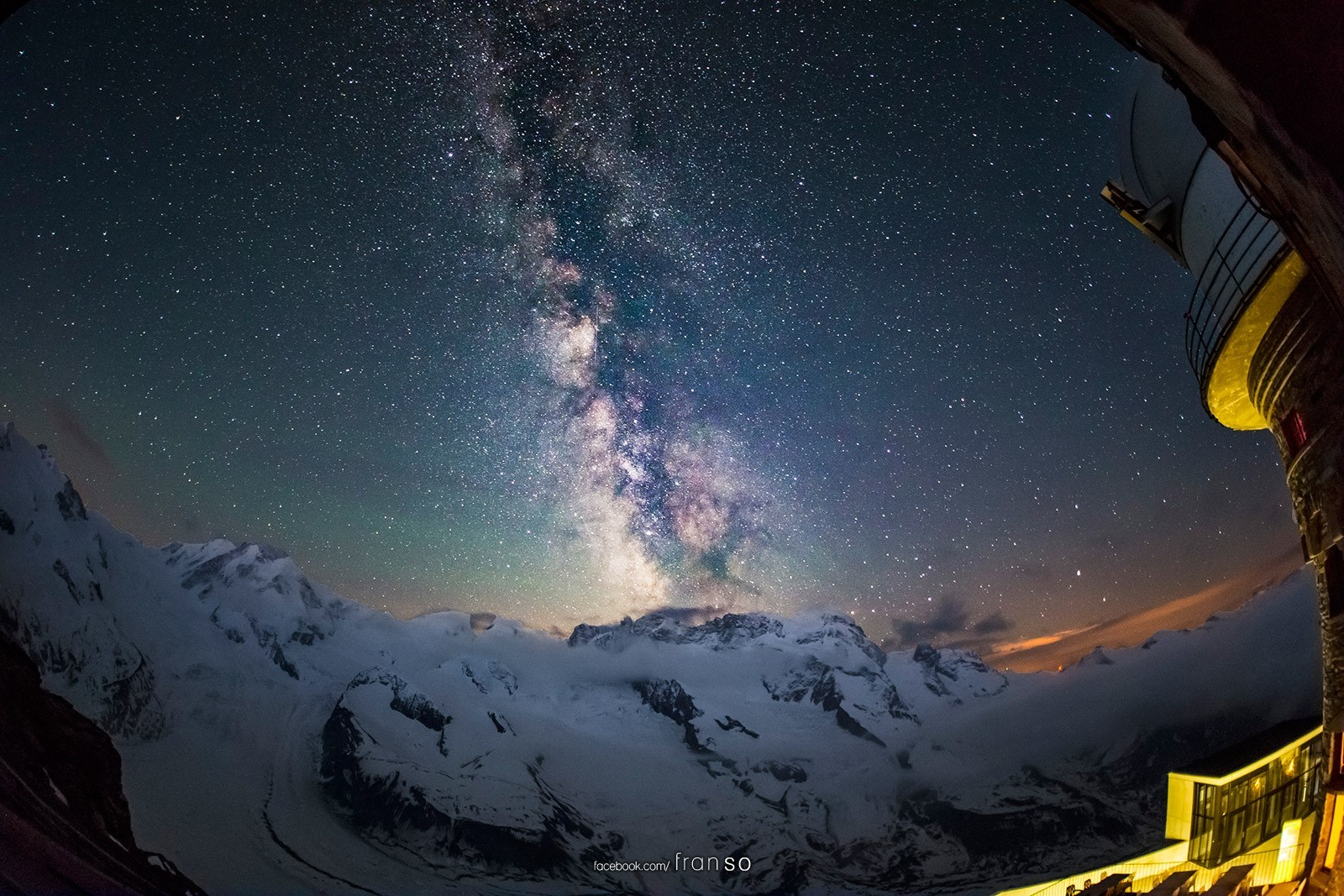 Starscape and Milkyway | Switzerland | Starscape over Gornergrat  | Taken at 3100 Kulmhotel Gornergrat