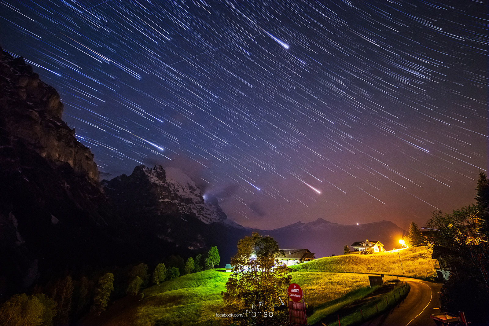 Starscape and Milkyway | Switzerland | Startrails  | at Grindelwald