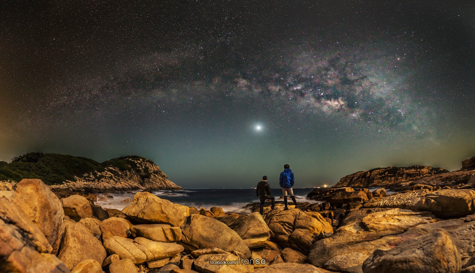 Starscape and Milkyway | Hong Kong | Panoramic Milkyway  | Shek O